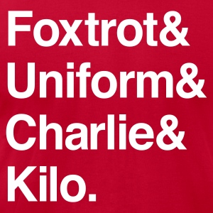 Red Foctrot Charlie T-Shirts - Men's T-Shirt by American Apparel