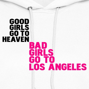 White bad girls go to los angeles Hoodies - Women's Hoodie