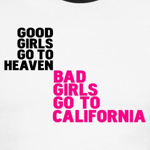 bad girls go to california T-shirts (manches courtes) - T-shirt à bords contrastants pour hommes American Apparel