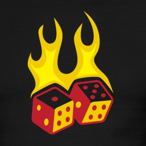 Fire & Dice Ringer - Men's Ringer T-Shirt