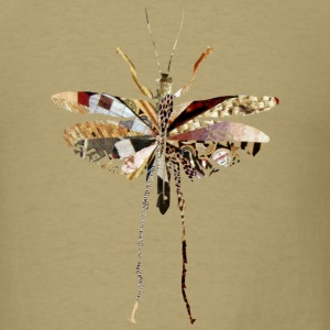 Khaki collage art GRASSHOPPER T-Shirts - Men's T-Shirt