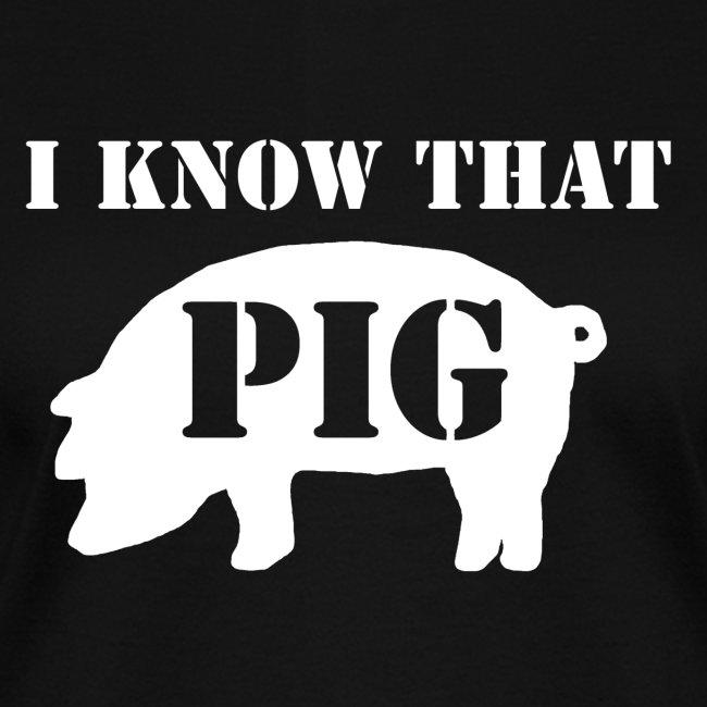 Pig - Black - Women's V Neck