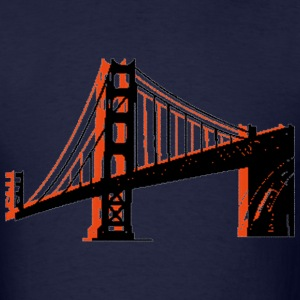 Navy Golden Gate Bridge T-Shirts - Men's T-Shirt