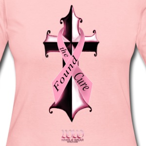 Light pink Found The Cure (4 breast cancer) Long Sleeve Shirts - Women's Long Sleeve Jersey T-Shirt