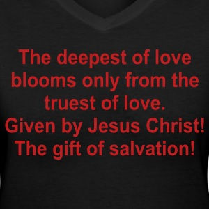 Black the_deepest_of_love Women's T-Shirts - Women's V-Neck T-Shirt