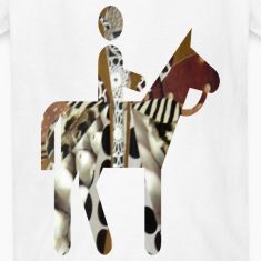 White MAN and HORSE Kids' Shirts