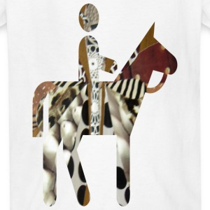 White MAN and HORSE Kids' Shirts - Kids' T-Shirt