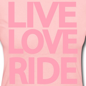 Live Love Ride Long Sleeve Shirt - Women's Long Sleeve Jersey T-Shirt