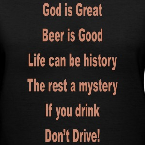 Black beer_is_good_god_is_great_if_you_drink_d Women's T-Shirts - Women's V-Neck T-Shirt