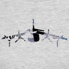 Gray AIRPLANE ART Long Sleeve Shirts