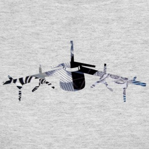 Gray AIRPLANE ART Long Sleeve Shirts - Women's Long Sleeve Jersey T-Shirt