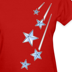 Red shootingstars_copy Women's T-Shirts - Women's T-Shirt