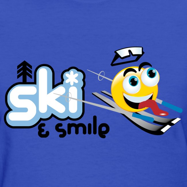 Women's Ski And Smile T