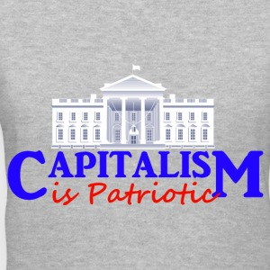 Gray Capitalism is Patriotic Women's T-Shirts - Women's V-Neck T-Shirt