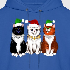 Three Christmas Kitties - Men's Hoodie