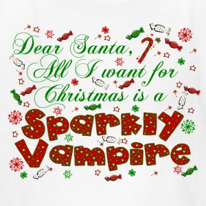 Dear Santa Sparkly Vampire New Moon Christmas Kids tee - Kids' T-Shirt