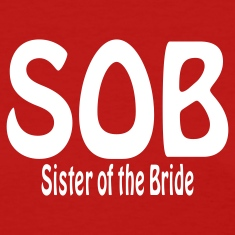 Red Sister of the Bride Women's T-Shirts
