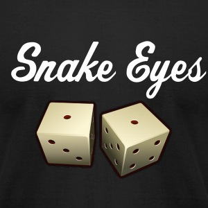 Snake Eyes - Men's T-Shirt by American Apparel