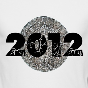 White 2012 Mayan Calendar Long Sleeve Shirts - Men's Long Sleeve T-Shirt by Next Level