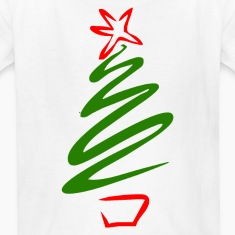 White Christmas tree Kids' Shirts
