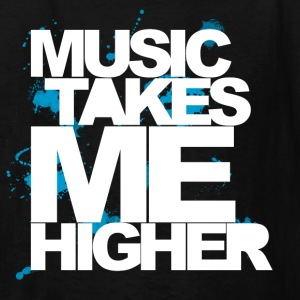 Black Music Takes Me Higher (White) Kids' Shirts - Kids' T-Shirt