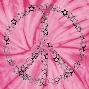 Spider pink Star Peace Sign T-Shirts - Unisex Tie Dye T-Shirt