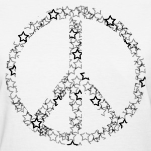 White Star Peace Sign Women's T-Shirts - Women's T-Shirt