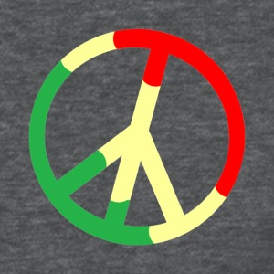 Deep heather Rasta Peace Sign Women's T-Shirts - Women's T-Shirt