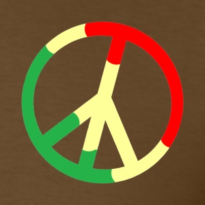 Brown Rasta Peace Sign T-Shirts - Men's T-Shirt
