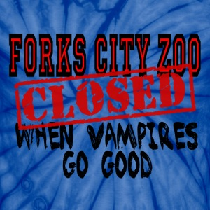 Spider baby blue Forks City Zoo Closed: When Vampires Go Good T-Shirts - Unisex Tie Dye T-Shirt