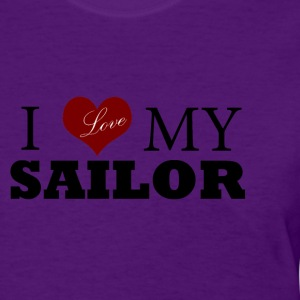 Light blue Love my sailor Women's T-Shirts - Women's T-Shirt
