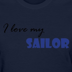 Navy Love my Sailor Women's T-Shirts - Women's T-Shirt