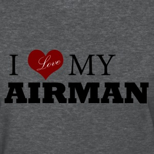 Deep heather Love my AIRMAN Women's T-Shirts - Women's T-Shirt