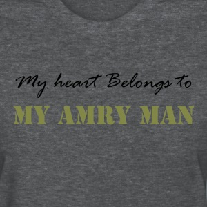 Deep heather Heart belongs to my Army Man Women's T-Shirts - Women's T-Shirt