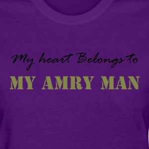 Light blue Heart belongs to my Army Man Women's T-Shirts - Women's T-Shirt