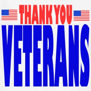 White THANK YOU VETERANS Kids' Shirts - Kids' T-Shirt