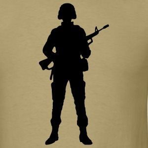Rifle Soldier Army Marine 1c - Men's T-Shirt