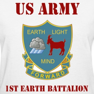 White 1st Earth Battalion Men Who Stare At goats Women's T-Shirts - Women's T-Shirt