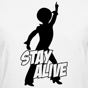 White stay_alive_1c Women's T-Shirts - Women's T-Shirt