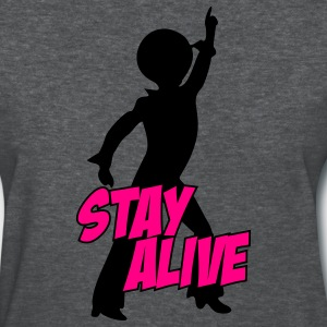 Deep heather stay_alive_2c Women's T-Shirts - Women's T-Shirt