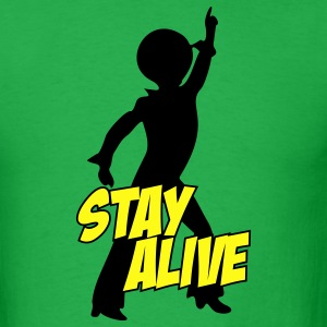 Bright green stay_alive_2c T-Shirts - Men's T-Shirt
