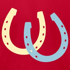 Brown Horseshoes T-Shirts - Men's T-Shirt by American Apparel