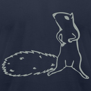 Navy squirrel T-Shirts - Men's T-Shirt by American Apparel