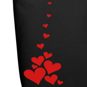 Black Falling Hearts Bags  - Eco-Friendly Cotton Tote