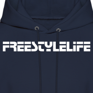 Design ~ Men's Hooded Sweatshirt/White Lettering