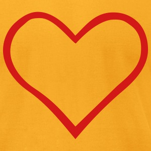 Heart - Men's T-Shirt by American Apparel
