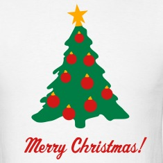 White Christmas Tree and Decorations T-Shirts