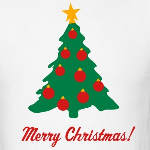 White Christmas Tree and Decorations T-Shirts - Men's T-Shirt