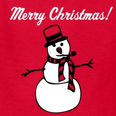Red snowman Kids' Shirts