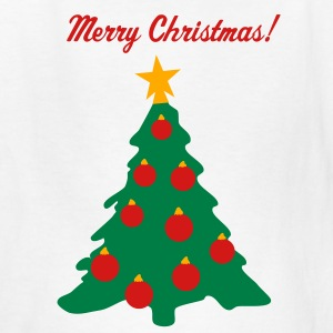 White Christmas Tree and Decorations Kids' Shirts - Kids' T-Shirt